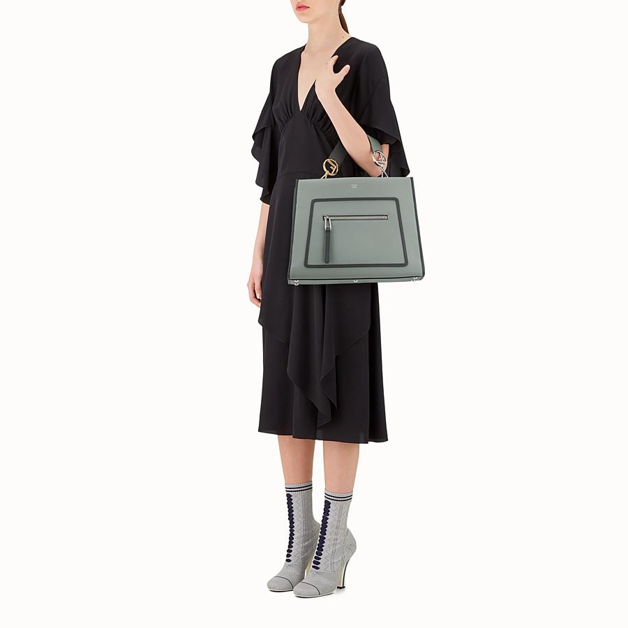 FENDI RUNAWAY REGULAR - Green leather bag - view 6 detail