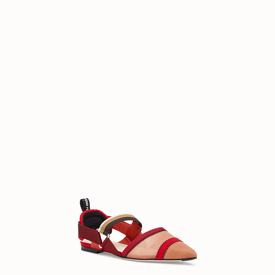 FENDI SLINGBACK - Red mesh sabots - view 2 detail