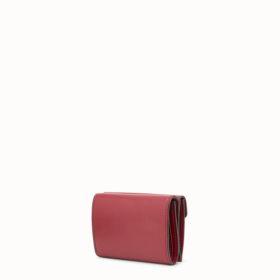 FENDI MICRO TRIFOLD - Red leather wallet - view 2 detail