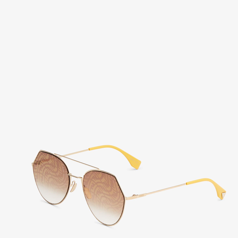 FENDI EYELINE - Lunettes de soleil dorées - view 2 detail