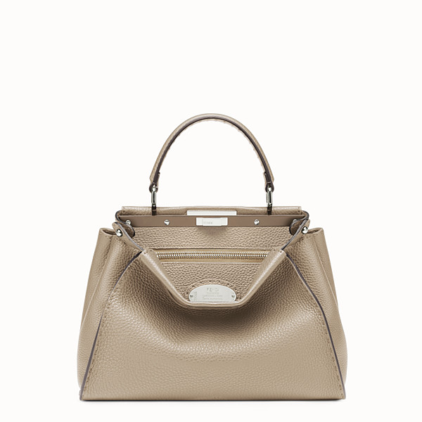 FENDI PEEKABOO ICONIC MEDIUM - Beige Selleria handbag - view 1 small thumbnail