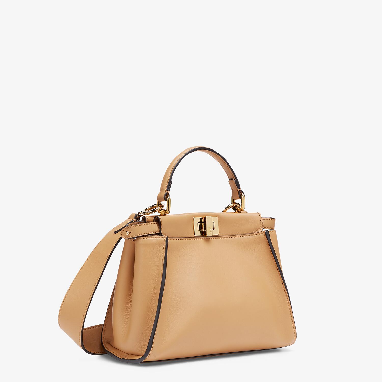FENDI PEEKABOO MINI - Beige leather bag - view 2 detail