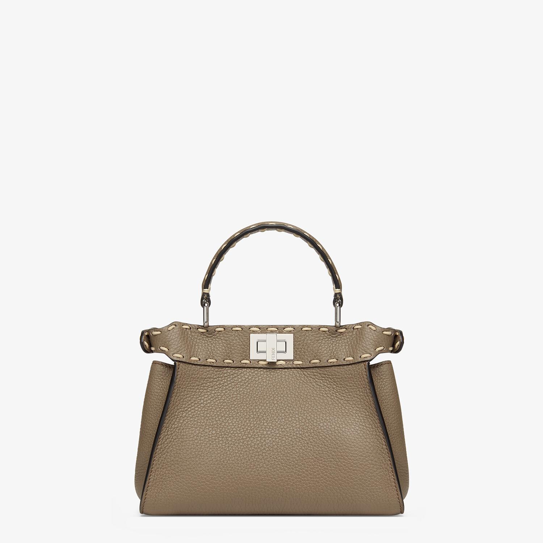 FENDI PEEKABOO ICONIC MINI - Gray full grain leather bag - view 3 detail