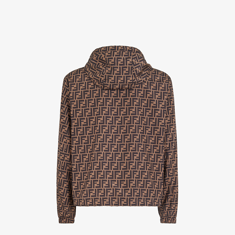 FENDI BLOUSON JACKET - Brown nylon windbreaker - view 2 detail