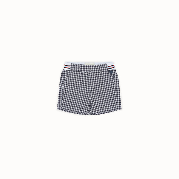 FENDI BERMUDAS - Checked Milano-stitch Bermudas - view 1 small thumbnail