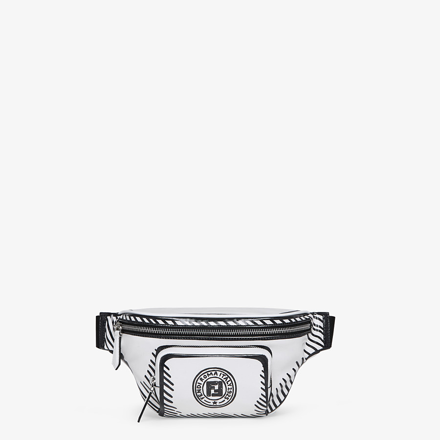 FENDI BELT BAG - White canvas belt bag - view 1 detail