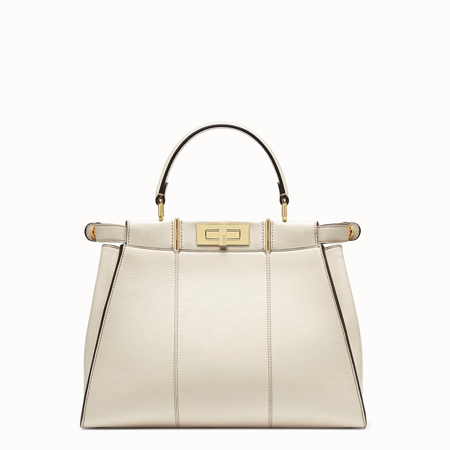FENDI PEEKABOO ICONIC MEDIUM - White leather bag - view 5 detail