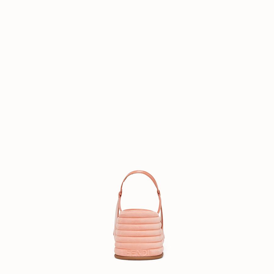 FENDI SLINGBACK - Promenade in pelle rosa - vista 3 dettaglio