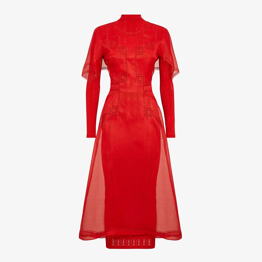 FENDI DRESS - Red silk dress - view 1 detail