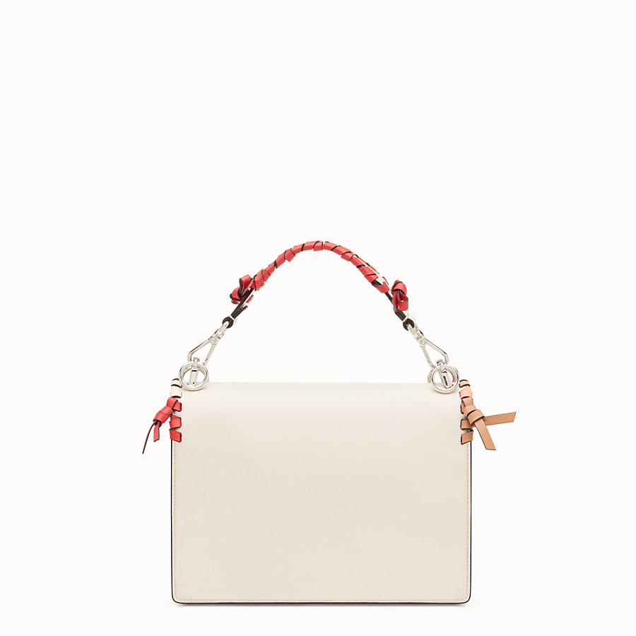FENDI KAN I - White leather bag - view 3 detail