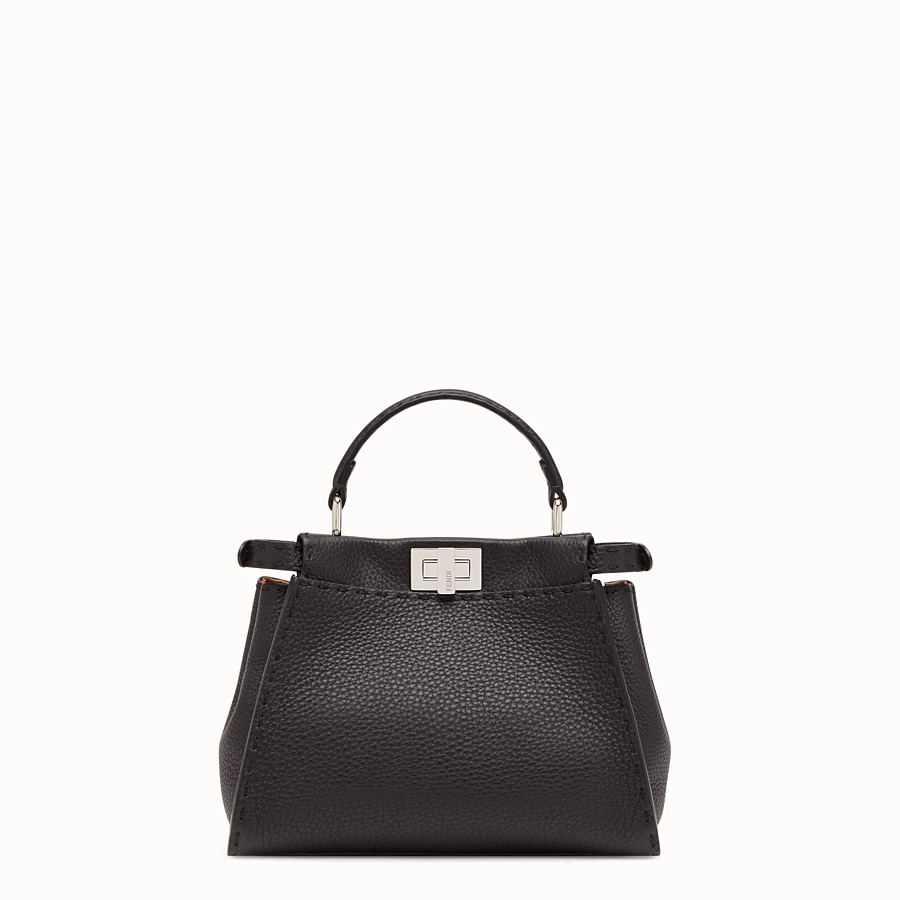 FENDI PEEKABOO ICONIC MINI - Sac en cuir noir - view 1 detail