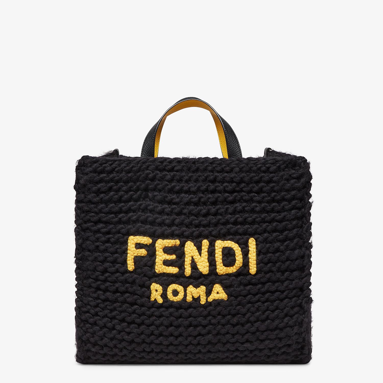 FENDI SHOPPER - Black wool bag - view 1 detail