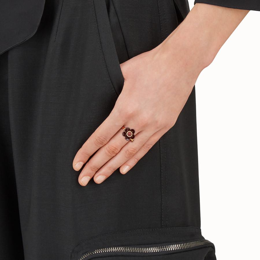 FENDI BLOSSOM RING - Blossom Ring mit burgunderroter Blüte - view 2 detail