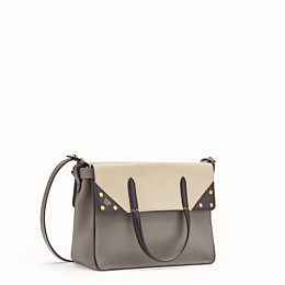 a05ce0fb4d7 Grey leather bag - FENDI FLIP REGULAR | Fendi