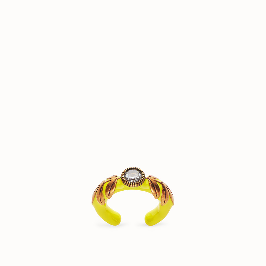 FENDI JULIUS CAESAR RING - Yellow and gold coloured ring - view 1 detail