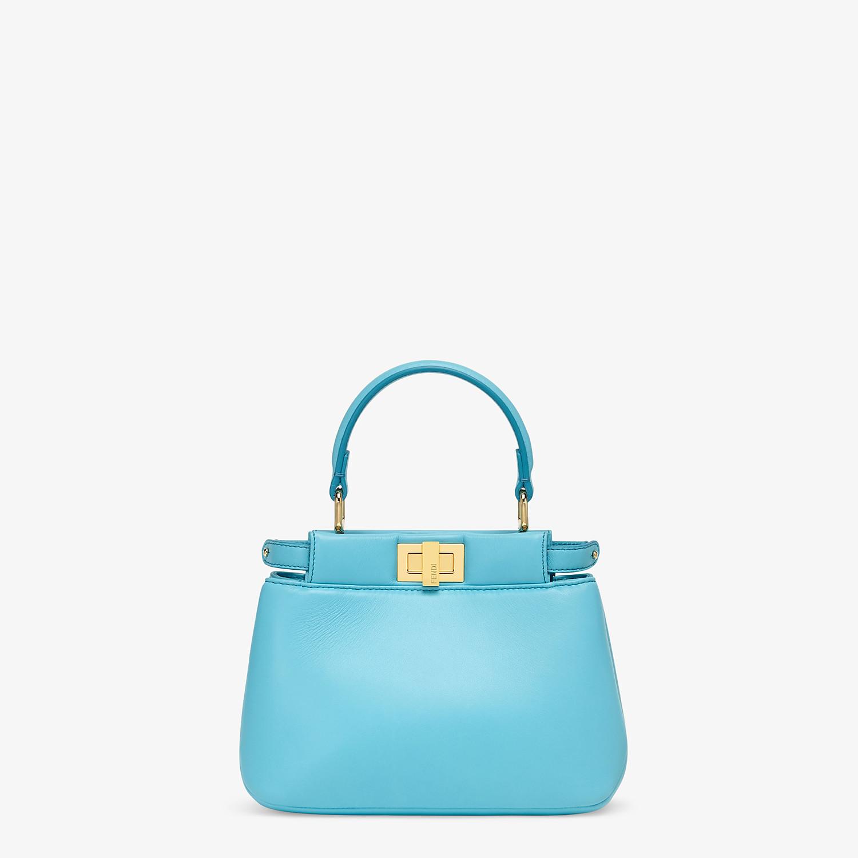 FENDI PEEKABOO ICONIC XS - Light blue nappa leather bag - view 1 detail