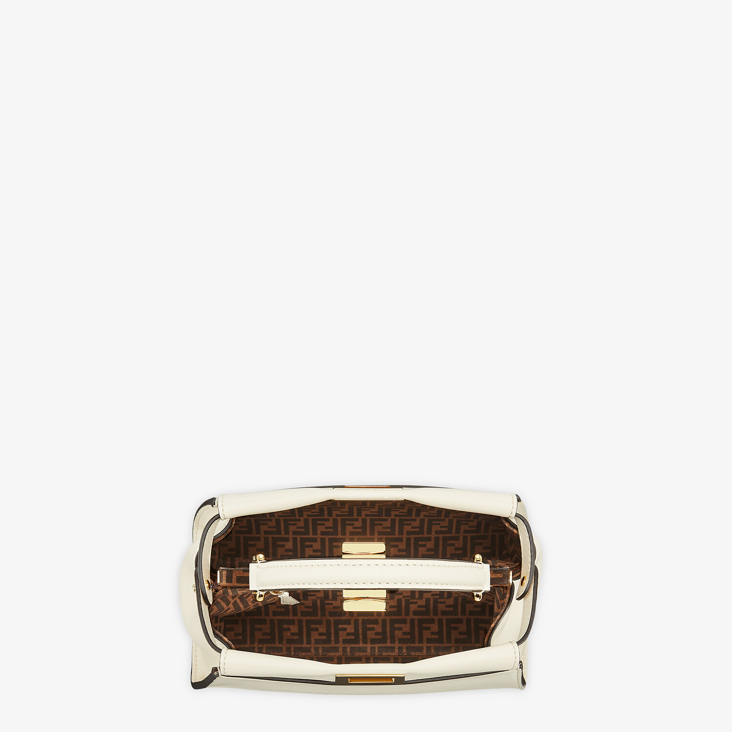 FENDI PEEKABOO ICONIC MINI - White leather bag - view 5 detail