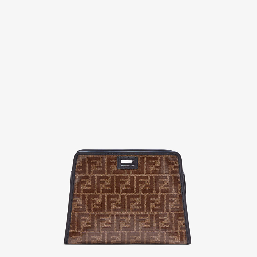 FENDI SMALL PEEKABOO DEFENDER - Peekaboo cover in brown fabric - view 3 detail