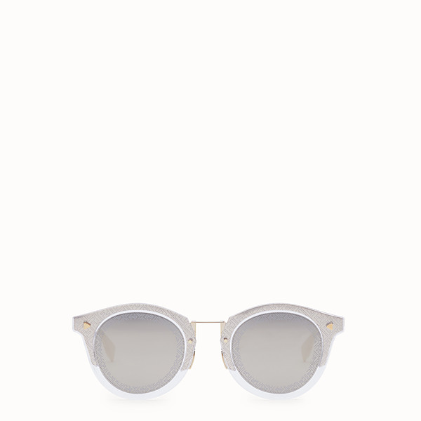 FENDI FF - Transparent and gold sunglasses - view 1 small thumbnail