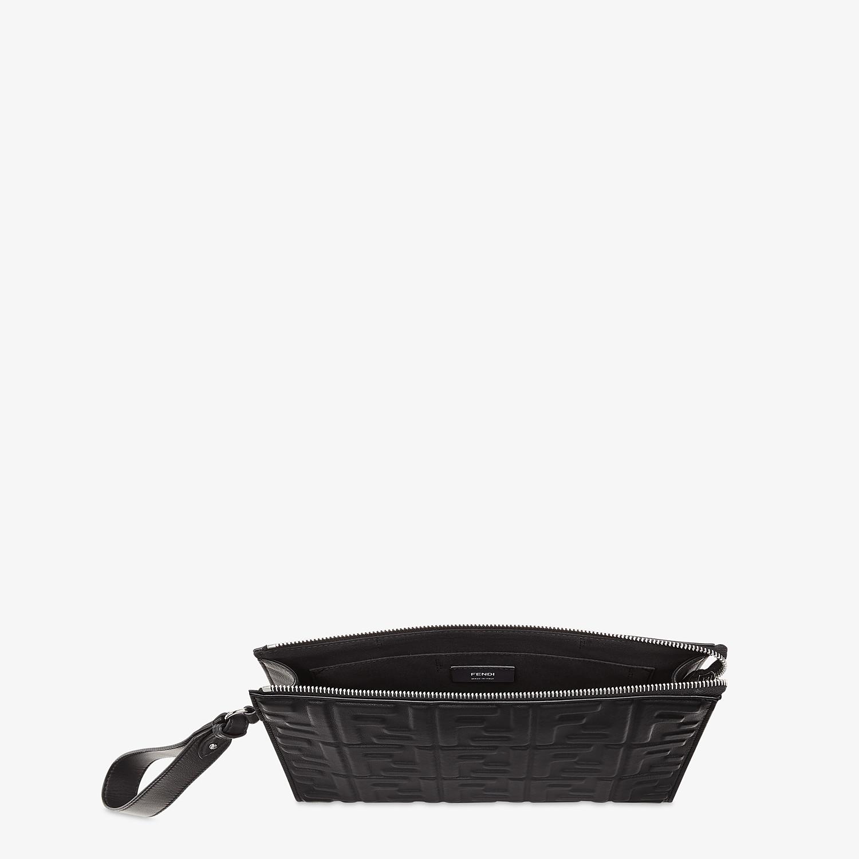 FENDI FLAT POUCH - Black nappa leather pouch - view 4 detail