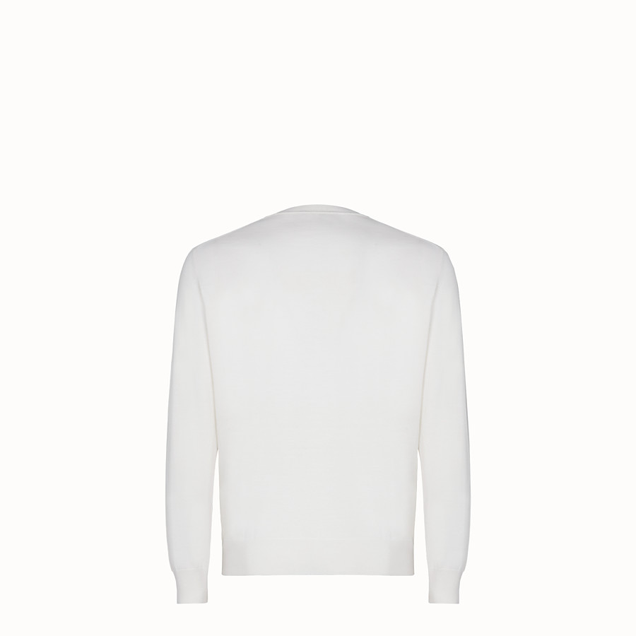 FENDI  - White wool jumper - view 2 detail