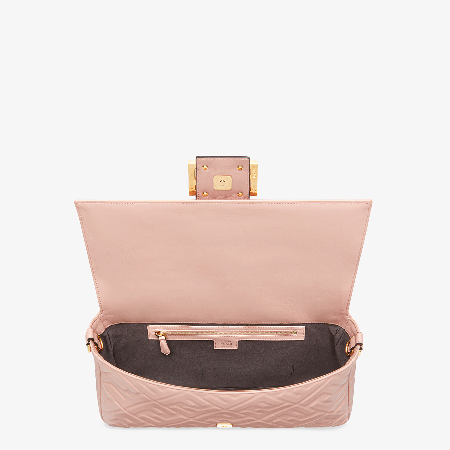 FENDI BAGUETTE LARGE - Pink nappa leather bag - view 5 detail