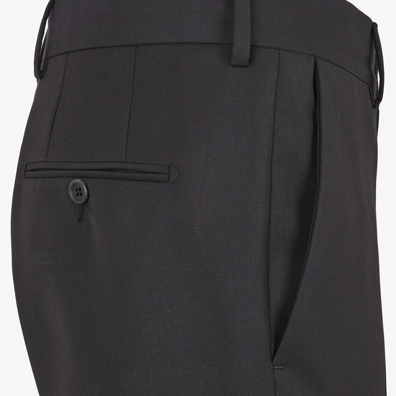 FENDI ABITO - Completo in lana nera - vista 5 dettaglio