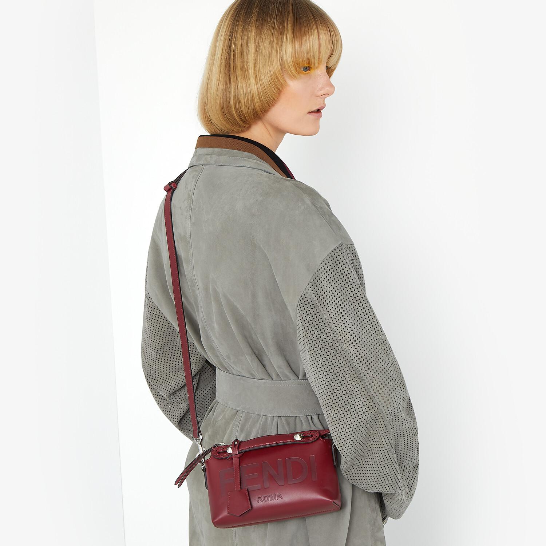 FENDI BY THE WAY MINI - Burgundy leather Boston bag - view 2 detail