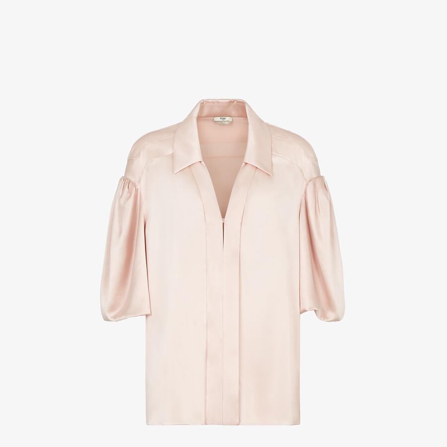 FENDI SHIRT - Pink silk blouse - view 1 detail