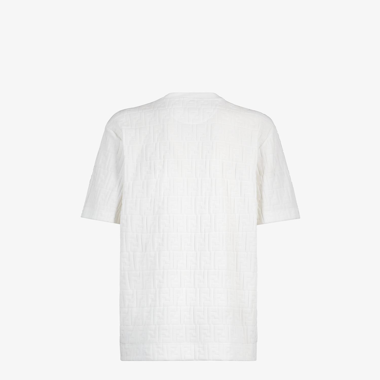 FENDI T-SHIRT - White chenille T-shirt - view 2 detail