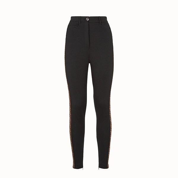 FENDI TROUSERS - Black jersey trousers - view 1 small thumbnail