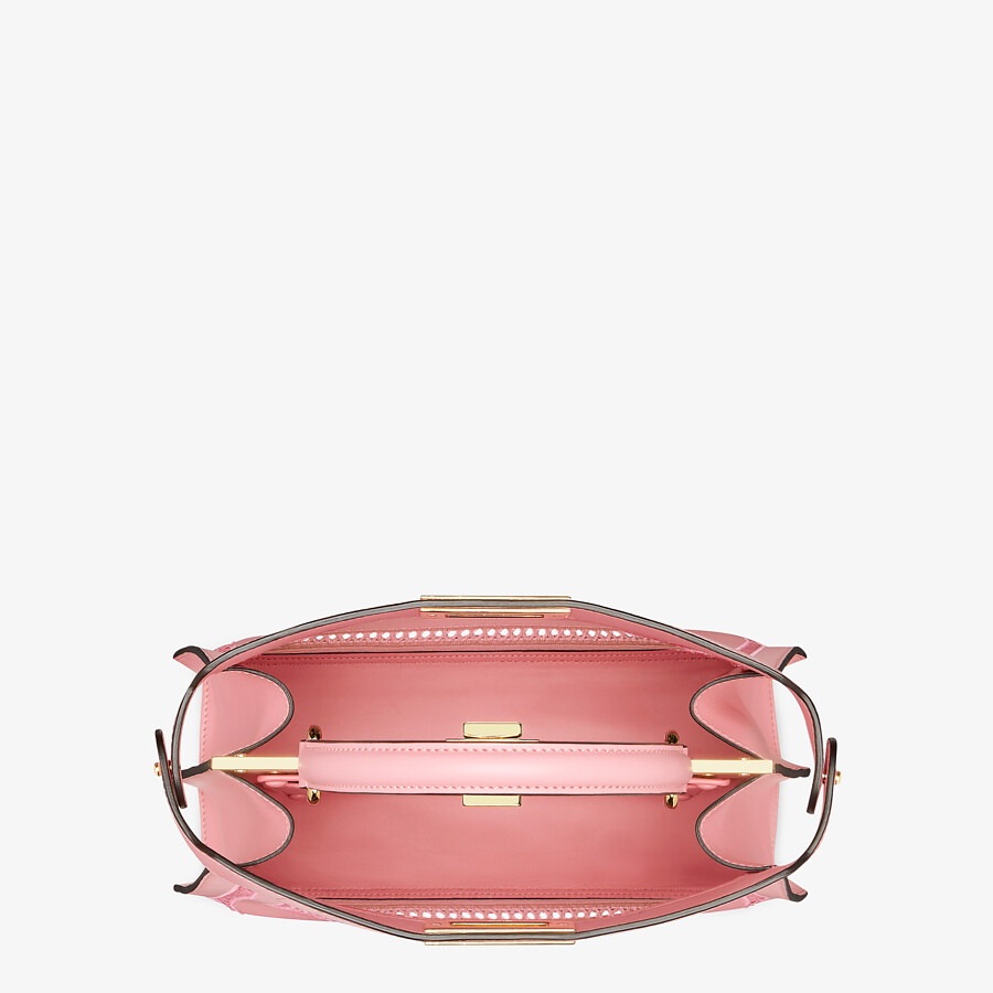 FENDI PEEKABOO ISEEU MEDIUM - Pink leather bag with embroidery - view 6 detail
