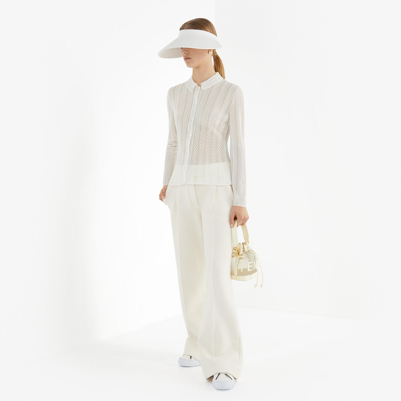 FENDI CARDIGAN - White lace cardigan - view 4 detail