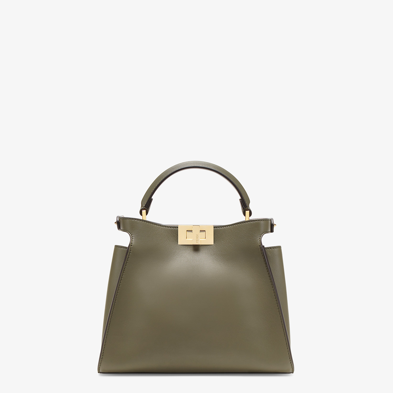 FENDI PEEKABOO ICONIC ESSENTIALLY - Green leather bag - view 4 detail