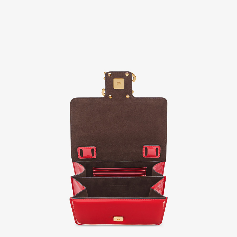FENDI KARLIGRAPHY - Red patent leather bag - view 5 detail