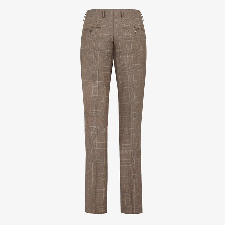 FENDI PANTS - Prince of Wales check wool pants - view 2 detail