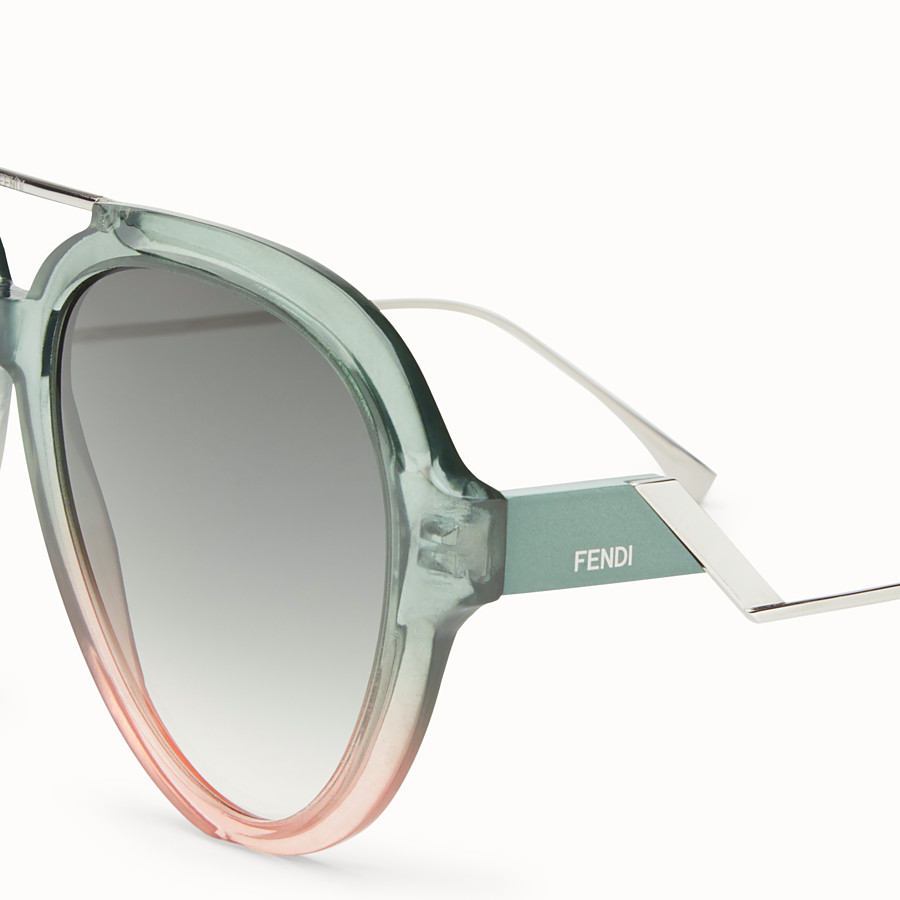 FENDI TROPICAL SHINE - Green and pink sunglasses - view 3 detail