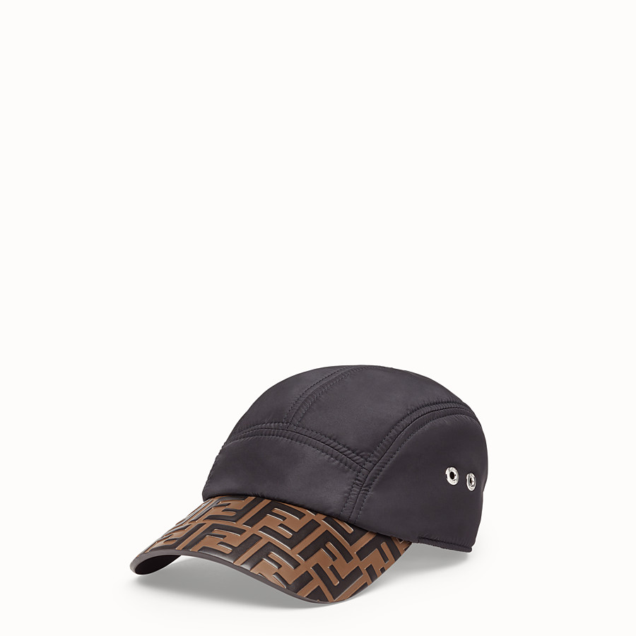 FENDI HAT - Black nylon baseball cap - view 1 detail