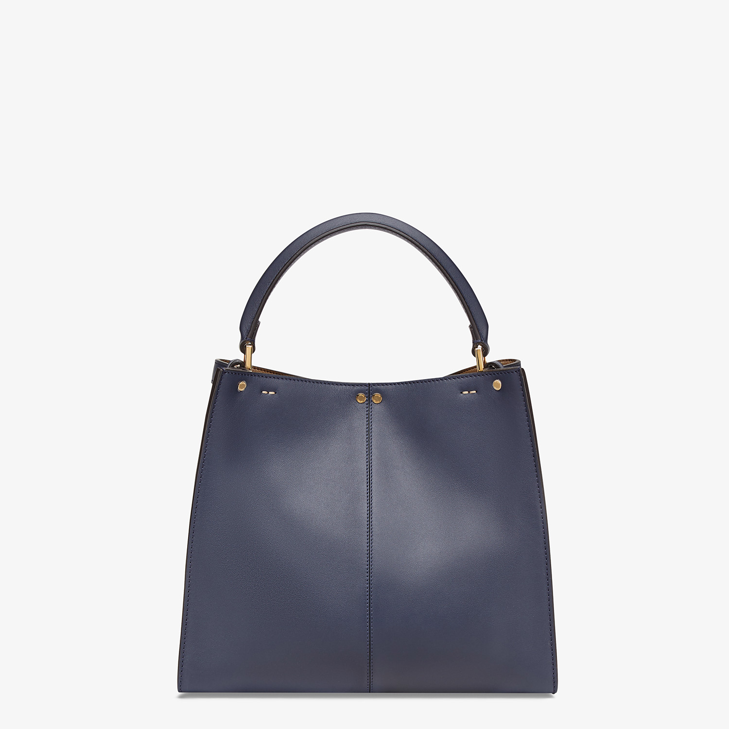 FENDI PEEKABOO X-LITE MEDIUM - Blue leather bag - view 4 detail