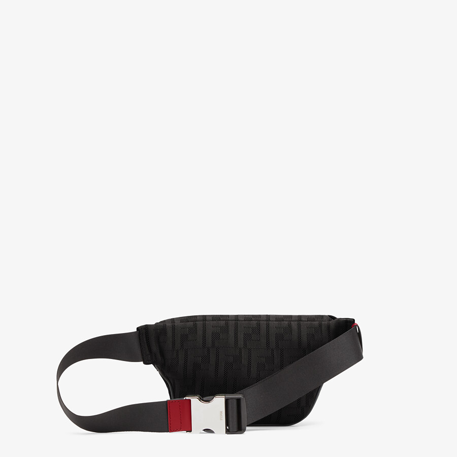 FENDI BELT BAG - Black fabric belt bag - view 3 detail