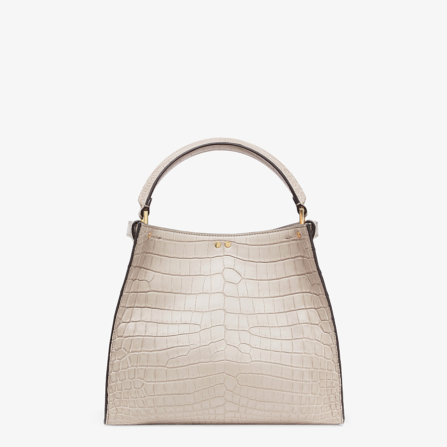 FENDI PEEKABOO X-LITE MEDIUM - Gray crocodile bag - view 5 detail