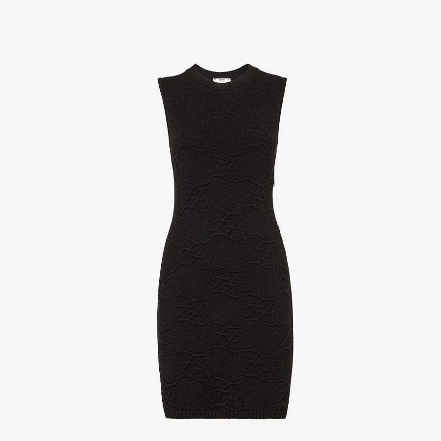 FENDI DRESS - Black wool and cashmere dress - view 1 detail