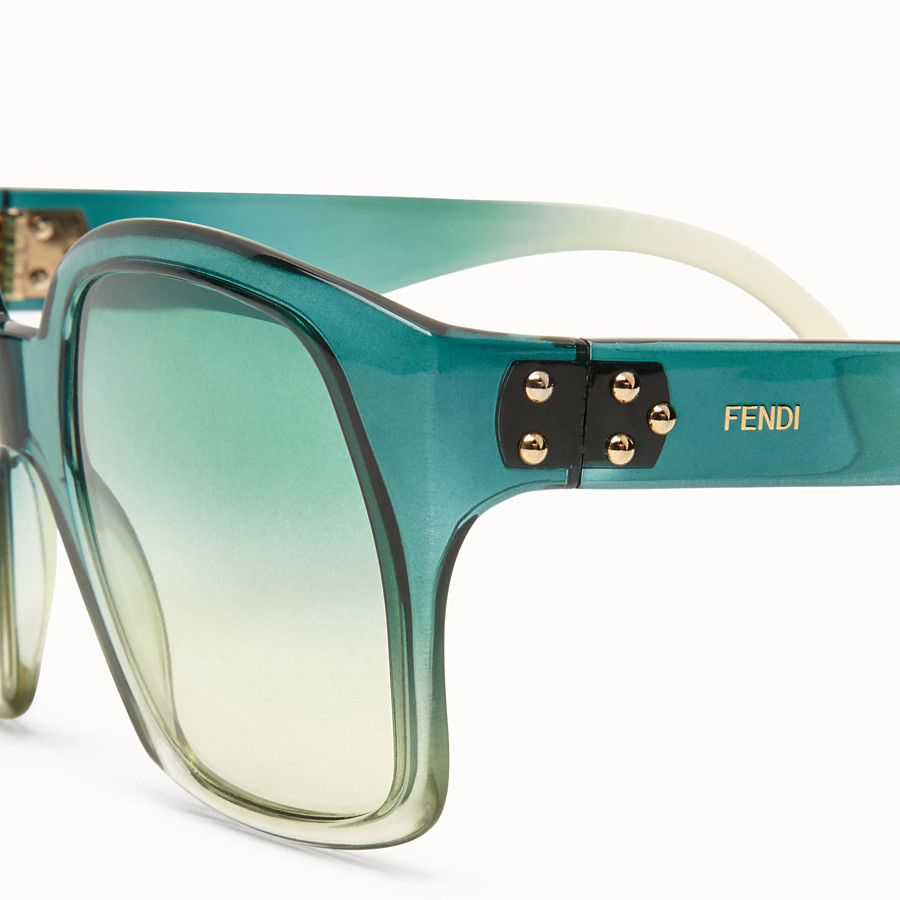 FENDI FENDI DAWN - Green gradient effect injection-moulded sunglasses - view 3 detail