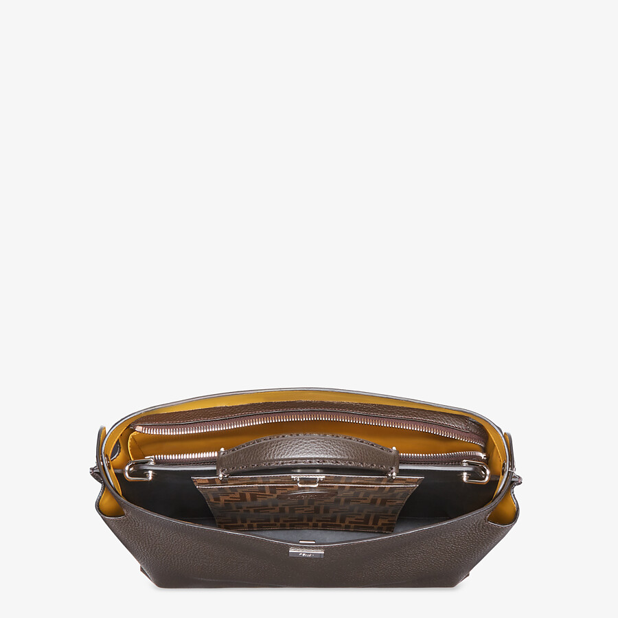 FENDI PEEKABOO ICONIC ESSENTIAL - Brown leather bag - view 4 detail