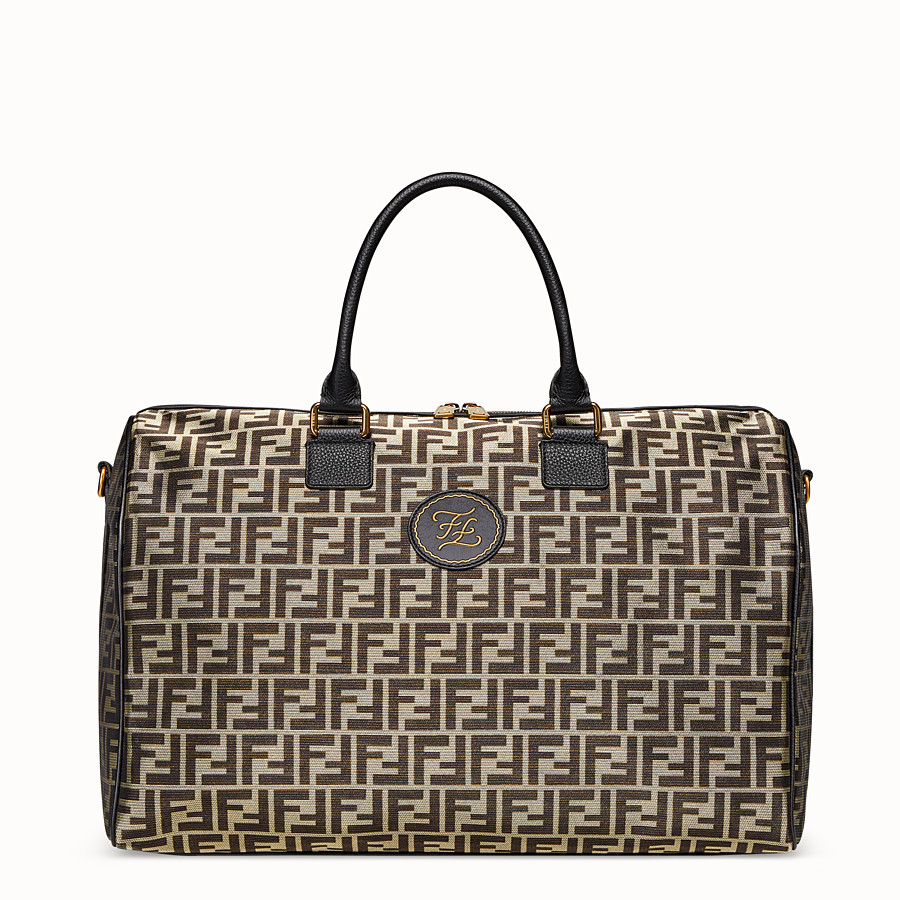 FENDI TRAVEL BAG - Large gold-colour fabric bag - view 1 detail