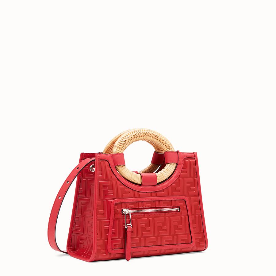 FENDI RUNAWAY SHOPPER - Red leather small shopper - view 2 detail