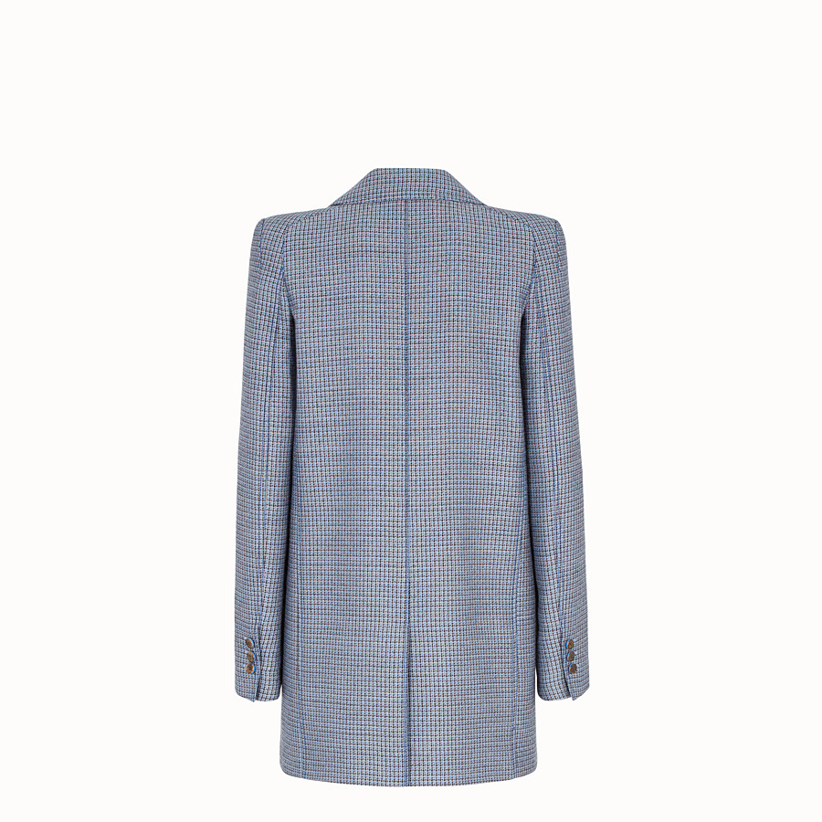 FENDI JACKET - Micro-check wool and silk blazer - view 2 detail