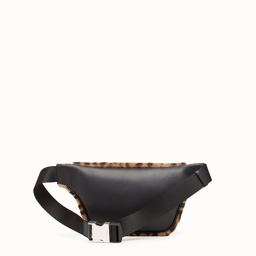 FENDI BELT BAG - Multicolour sheepskin belt bag - view 3 detail