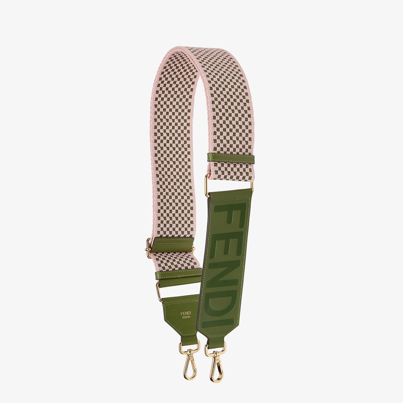 FENDI STRAP YOU - Lilac ribbon shoulder strap - view 1 detail