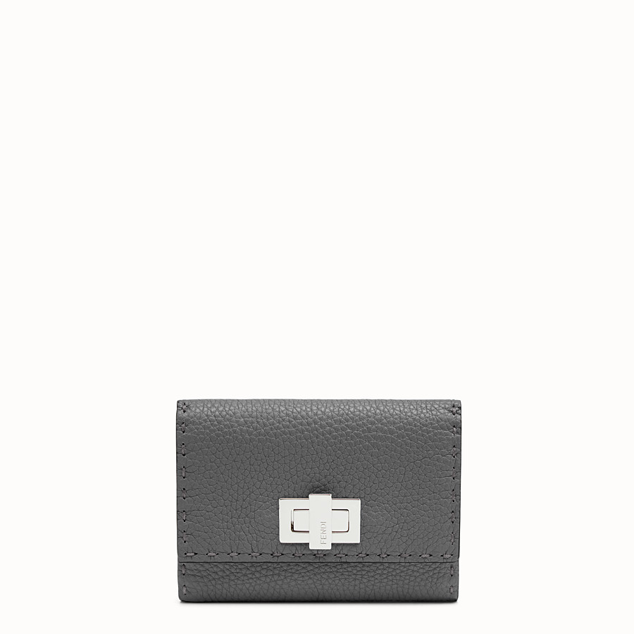 FENDI CONTINENTAL MEDIUM - Medium grey Selleria continental wallet - view 1 detail